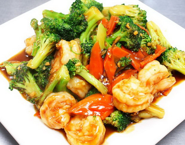 Asian cuisine menu for